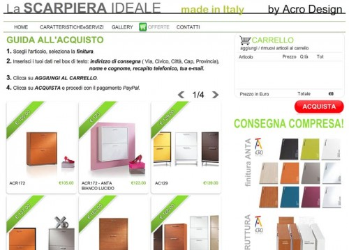 Scarpiere in OFFERTA da Acro Design! VENDITA ON-LINE comoda e sicura ...